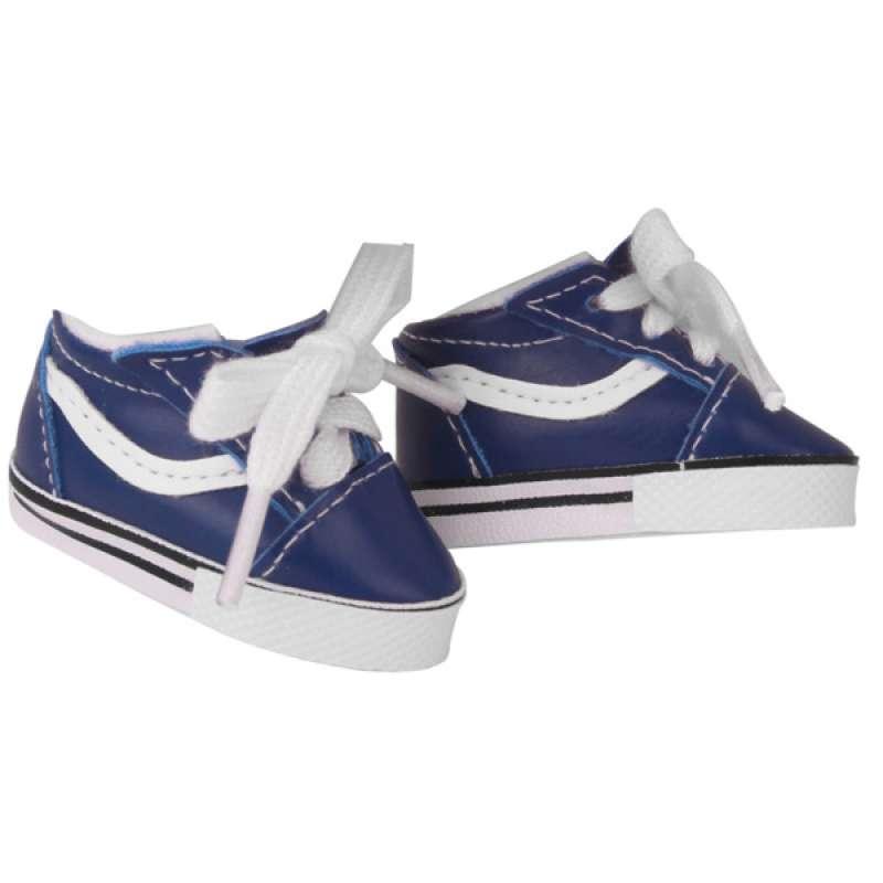 OEM Blue Flat Canvas Shoes PU Leather