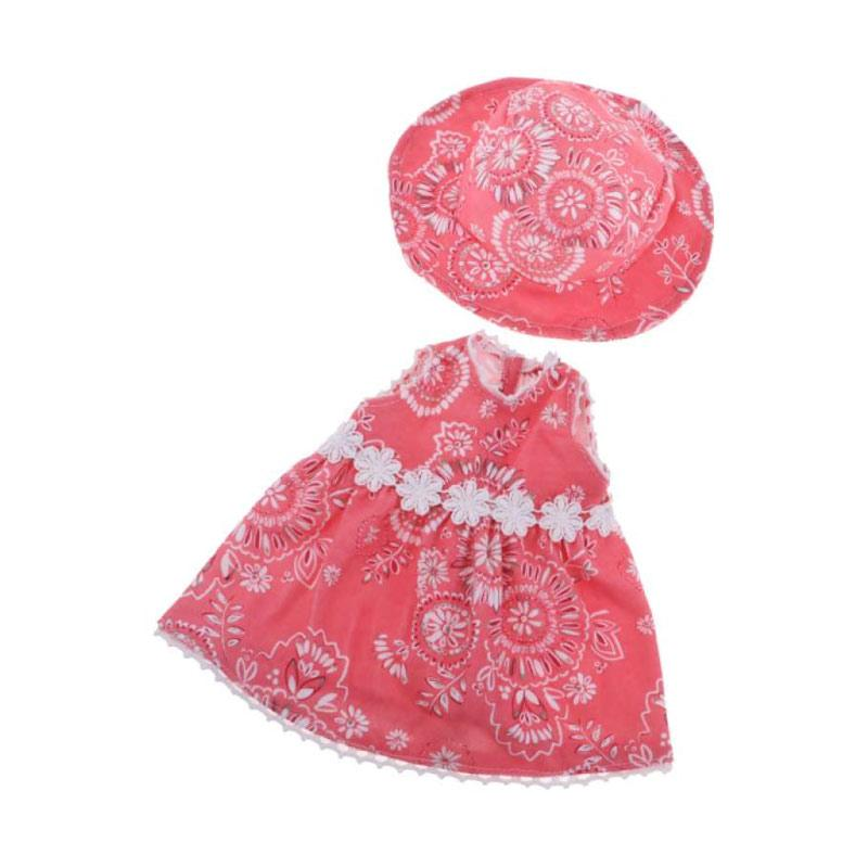 Handmade Short Skirt with Hat Set for American 18inch Doll Dress Up