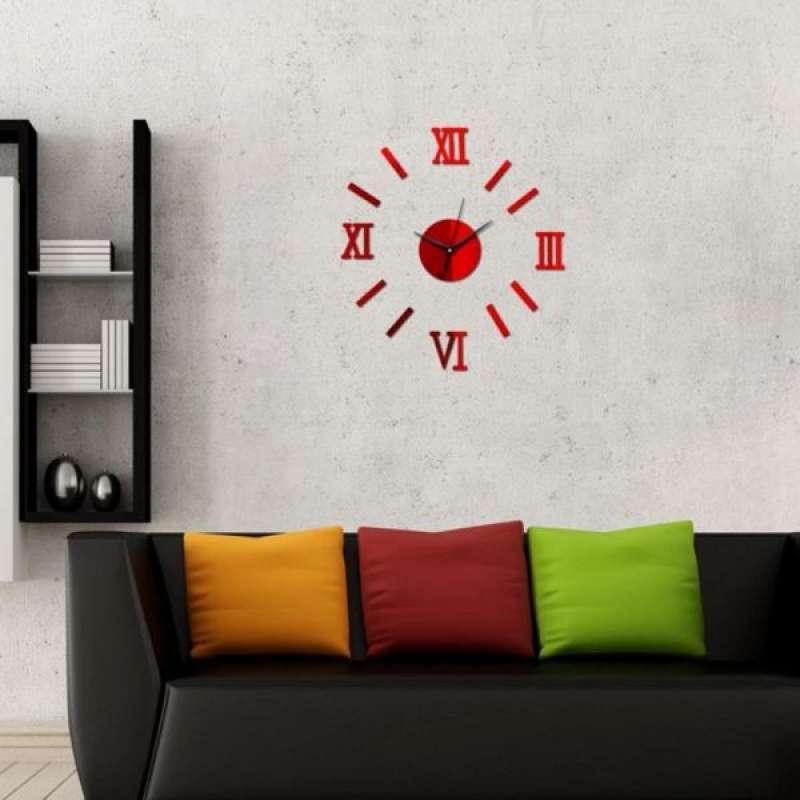 Jual 3d Mute Wall Clock Sticker Diy Watch For Living Room Bedroom Wall Decoration Online Desember 2020 Blibli