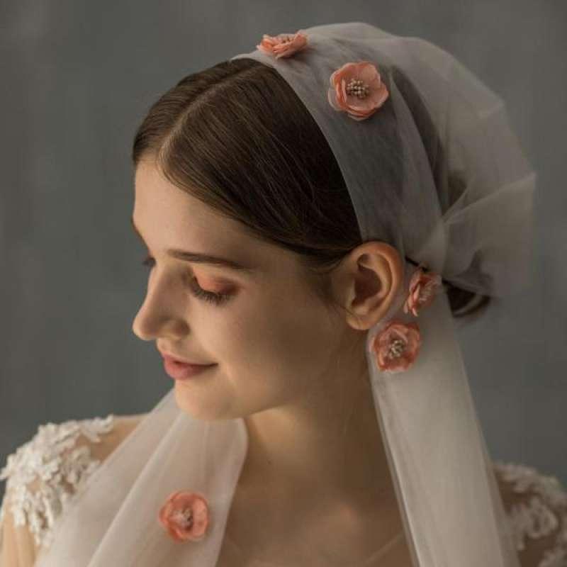 Jual Veil Flower Headband Bridal Hair Band Headpiece Women Wedding Hair Accessory Online Mei 2021 Blibli