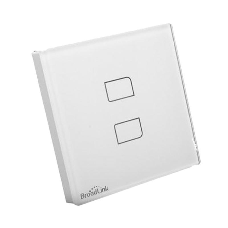 Broadlink TC2-2 SmartHome RF Wall Switch, 2 Tombol, Kontrol Lampu, Smartphone Control