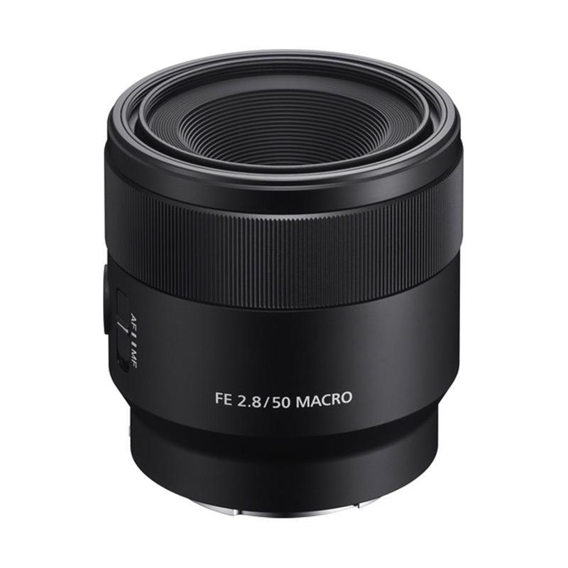 Sony FE 50mm f/2.8 SEL50M28 Macro Lensa Kamera - Hitam
