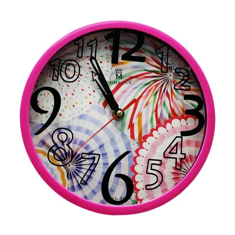 Miracle BP06 Pattern Jam Dinding - Pink