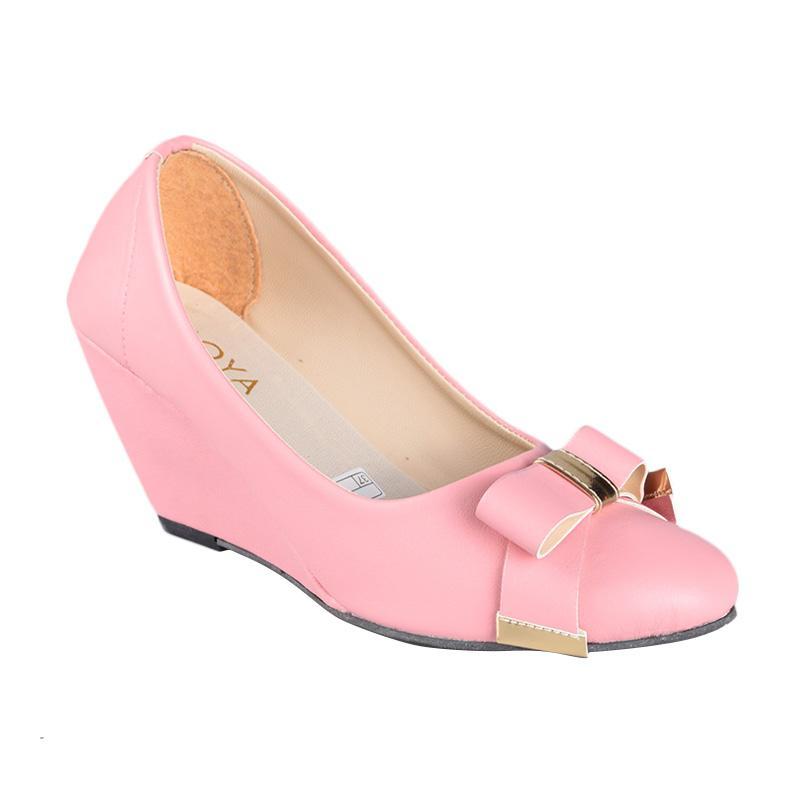 Moya SN-185 Sepatu Wedges Wanita - Pink