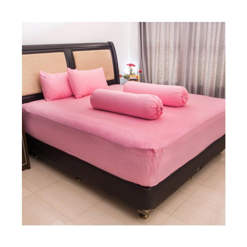 Pesona KH T20 Polos Set Sprei - Pink Muda