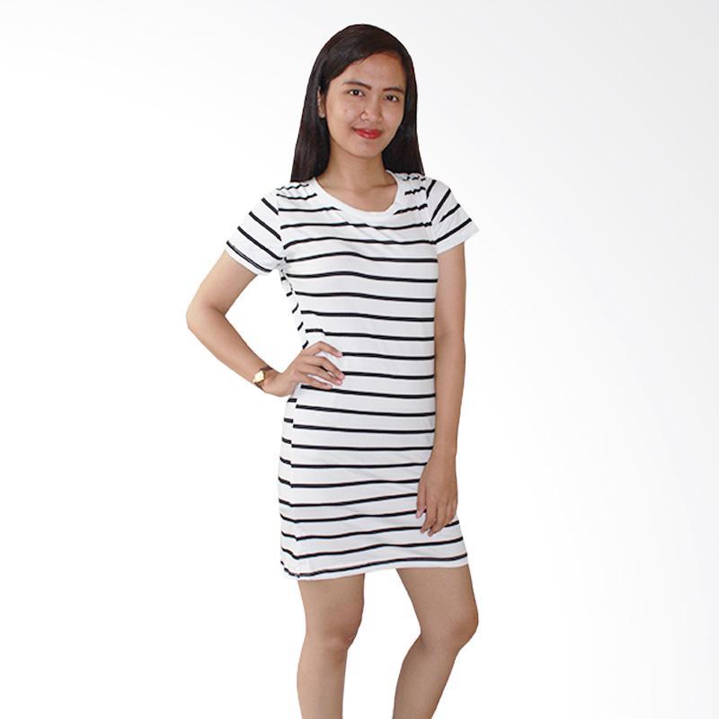 Aily 011 Atasan Wanita Semi Mini Dress -  Putih