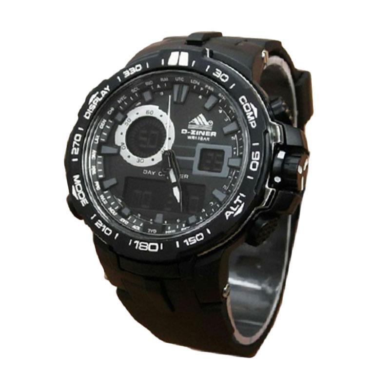 D-ziner dz021 Dual Time Jam Tangan Pria water resistant
