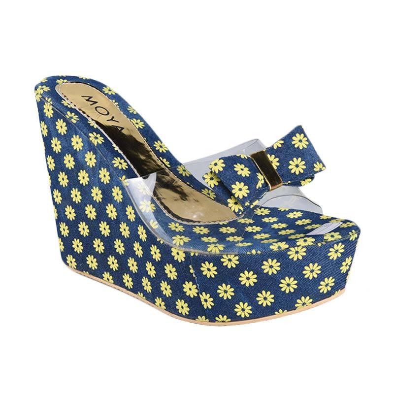 Moya SN-177 Sepatu Wedges Wanita - Biru