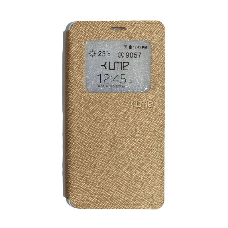 Ume Flip Cover Casing for Vivo Y51 - Gold