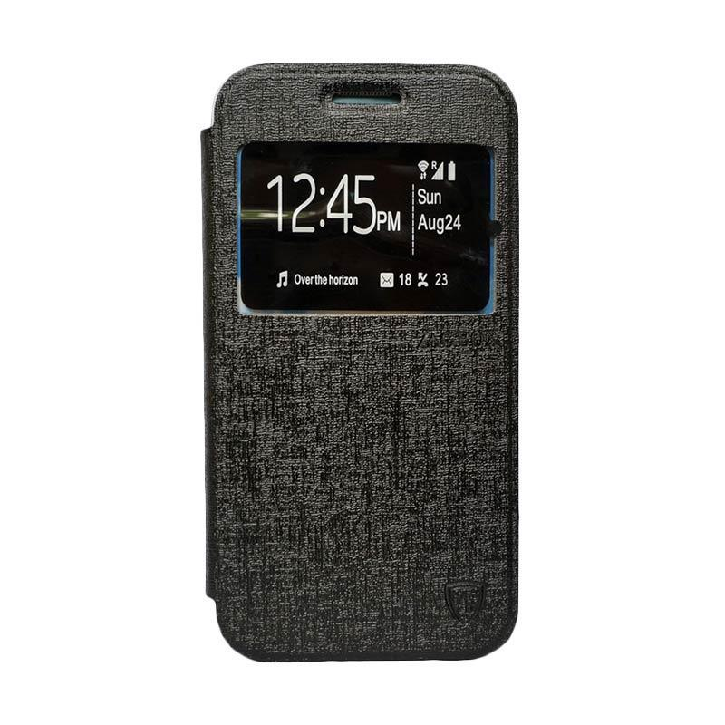 ZAGBOX Flip Cover Casing for Andromax A - Hitam