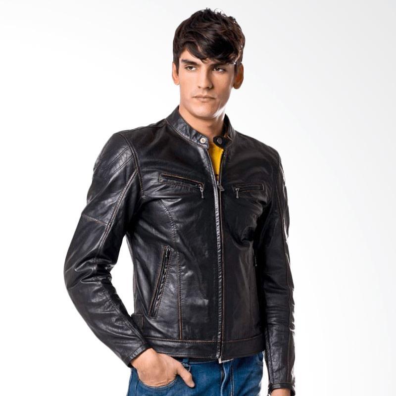Spidi Ring Leather Jaket Motor - Black