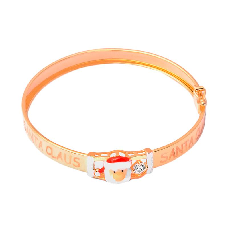 Santa Gold Kids Bangle - Gelang Emas Anak Kadar 37,5