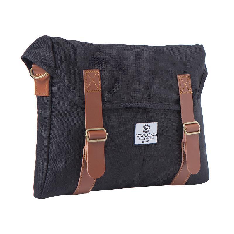 Woodbags Singaporean Bag Tas Pria - Black Coal