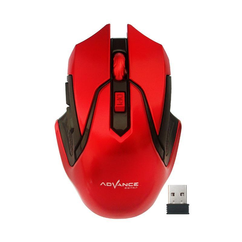 Advance WM501D Wireless Mouse - Merah