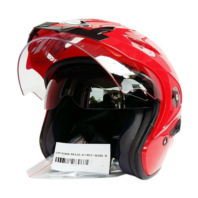KYT Venom RR Helm Half Face - Red Metalik Extra diskon 7% setiap hari Extra diskon 5% setiap hari Citibank – lebih hemat 10%