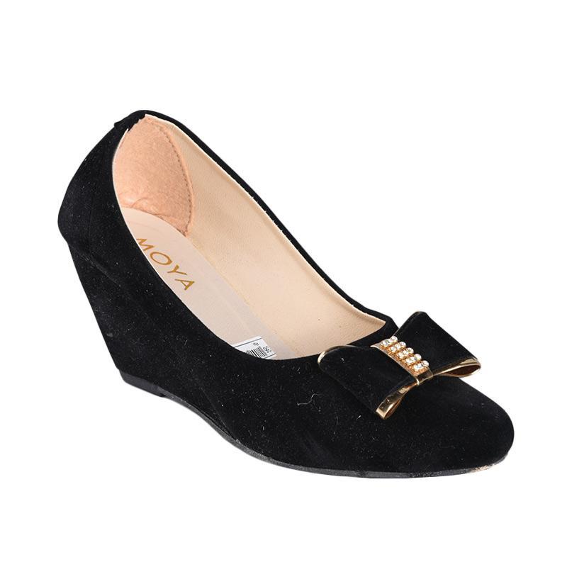 Moya SN-006 Sepatu Wedges Wanita - Hitam