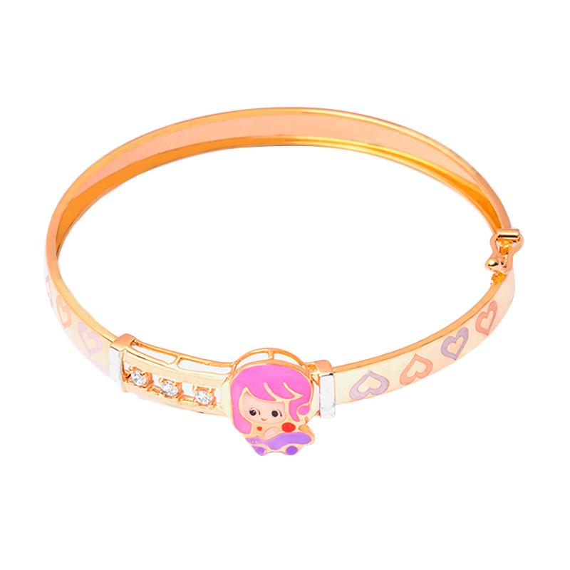 Pinky Gold Kids Bangle - Gelang Emas Anak Kadar 37,5
