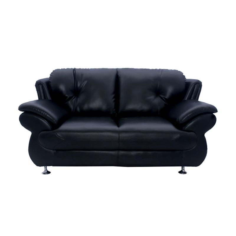 Aim Living Belgio 2 Seat Sofa - Hitam