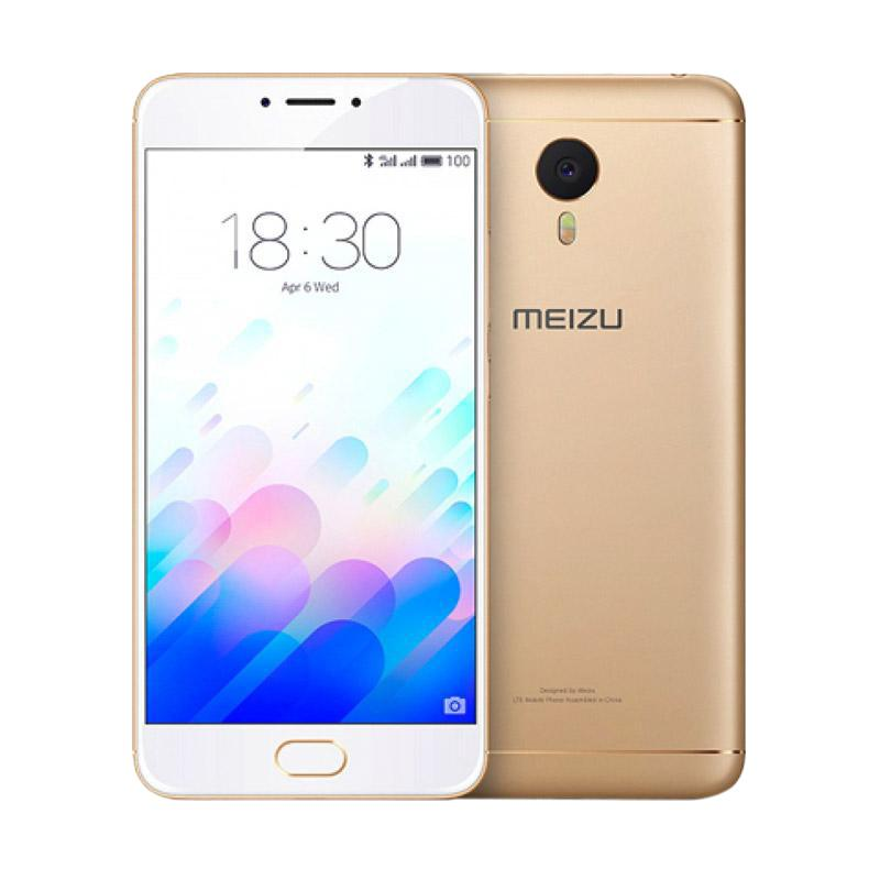 Meizu M5 Note Smartphone - Gold [32 GB/3 GB]