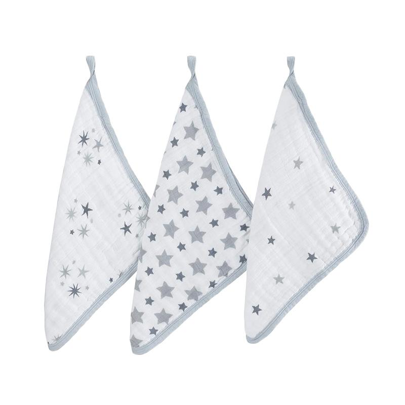 Aden+anais - 3-Pack Washcloth Set - Twinkle - Kain Pembersih Bayi dan Anak