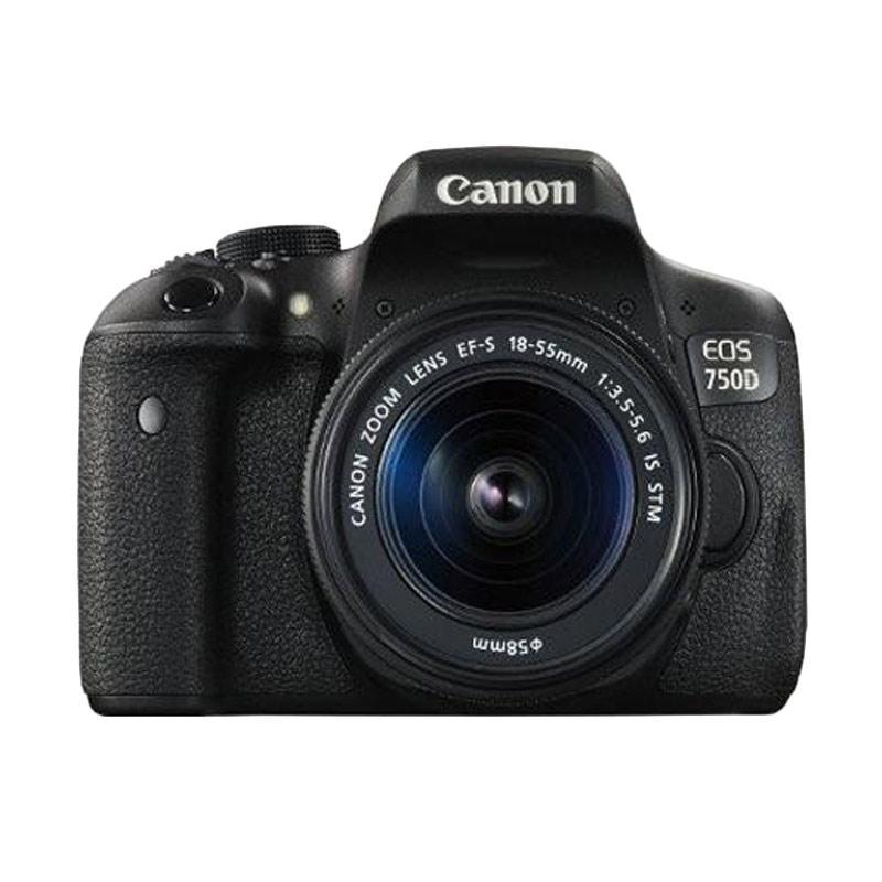 Canon EOS 750D Kit 18-55mm IS STM Wifi Kamera DSLR - Hitam - 9284534 , 15441928 , 337_15441928 , 9699000 , Canon-EOS-750D-Kit-18-55mm-IS-STM-Wifi-Kamera-DSLR-Hitam-337_15441928 , blibli.com , Canon EOS 750D Kit 18-55mm IS STM Wifi Kamera DSLR - Hitam