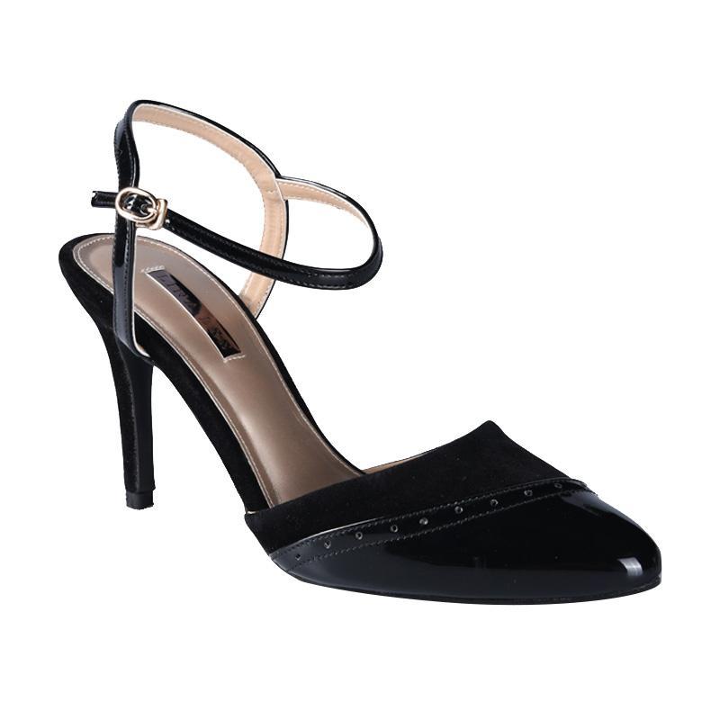 Lina Lee Joan Sepatu High Heels - Hitam