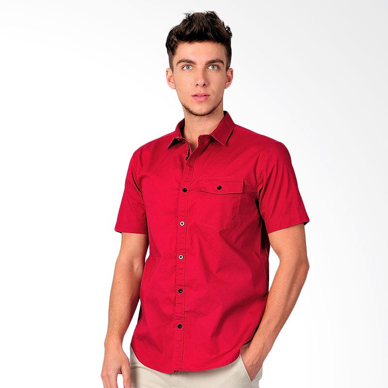 SJO & SIMPAPLY New Tanaska Men's Shirt Kemeja Pria - Red