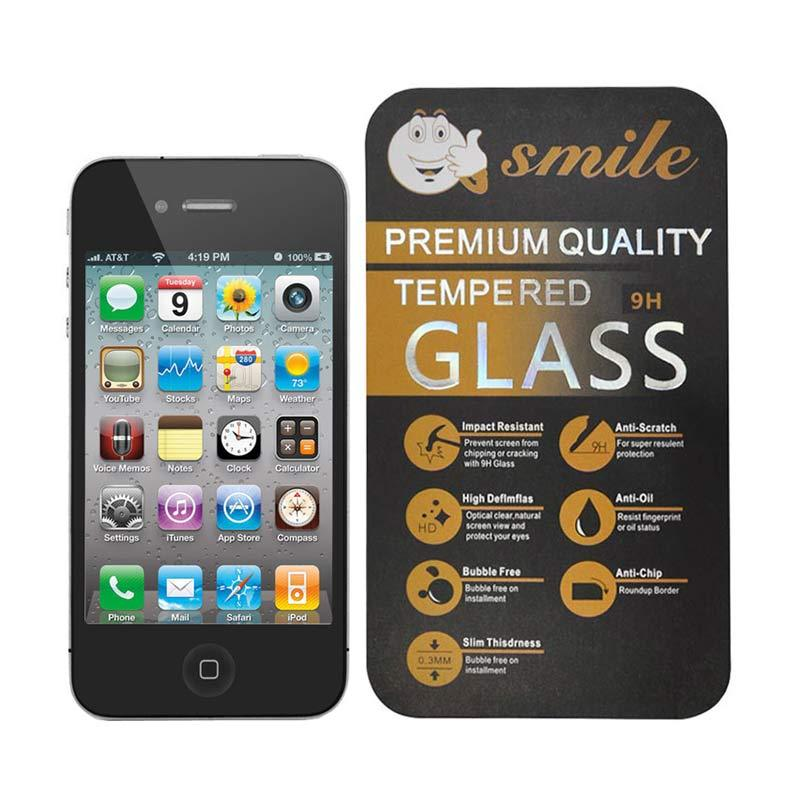 Smile Tempered Glass Screen Protector for Apple iPhone 4 or iPhone 4s