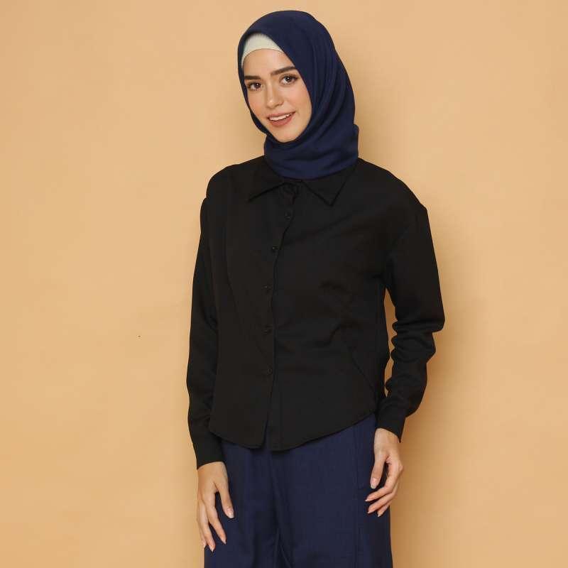 Cammomile Kemeja Fashion Atasan Wanita SP1804009 lengan panjang