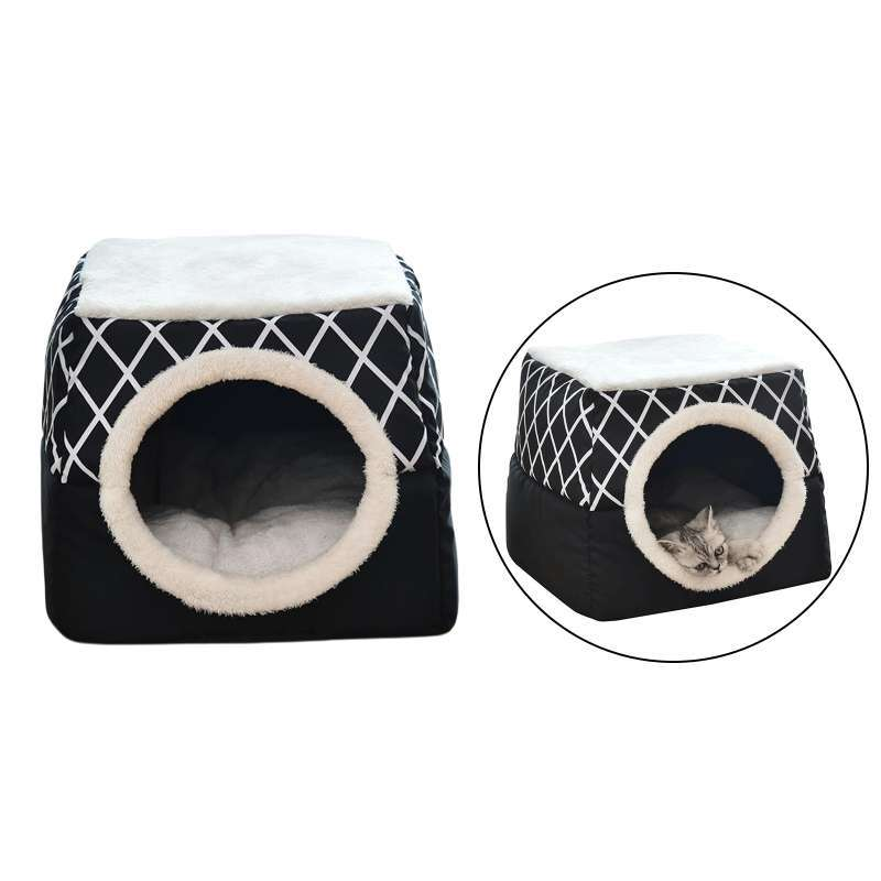 Jual Cat House Cat Condo For Indoor Cats Washable Small Pet Bed Cat Cave Cat Tent 2in1 Covered Cat Bed Cave Cat Cube For Indoor Cats Online April 2021 Blibli