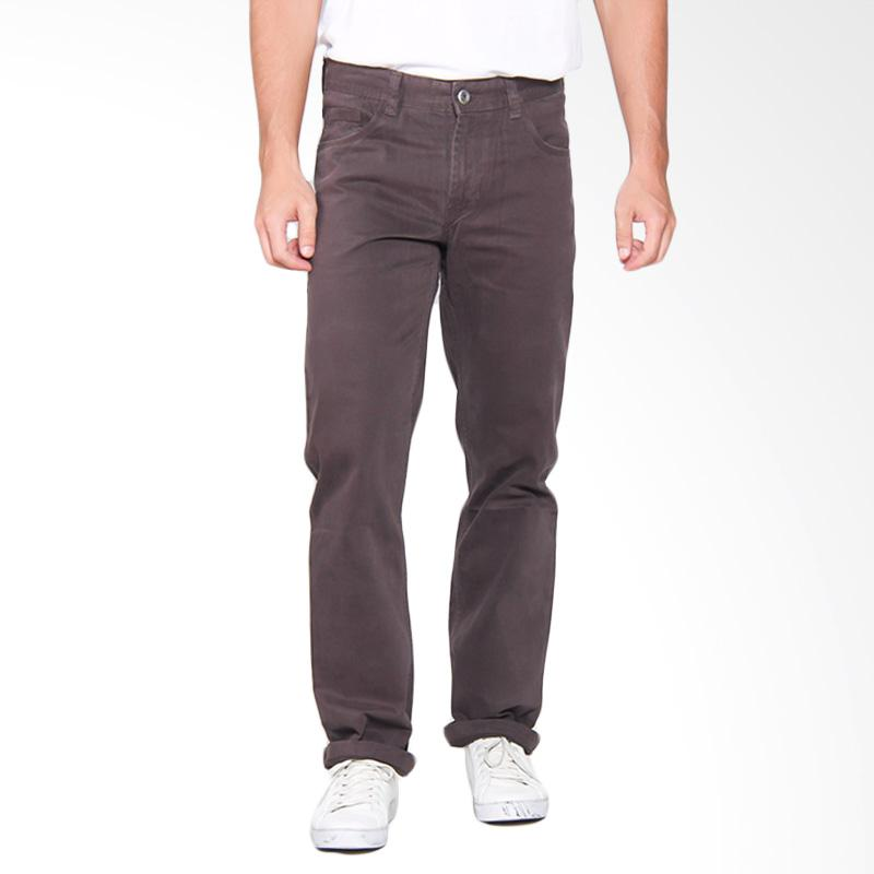 harga Emba Casual EPA 012R Basic Slim Celana Panjang Pria - Dark Grey 117 11101 31 Blibli.com