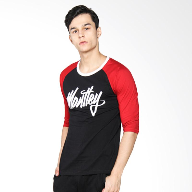Moutley Mens Casual Street Tee Atasan Pria - Red 352051712