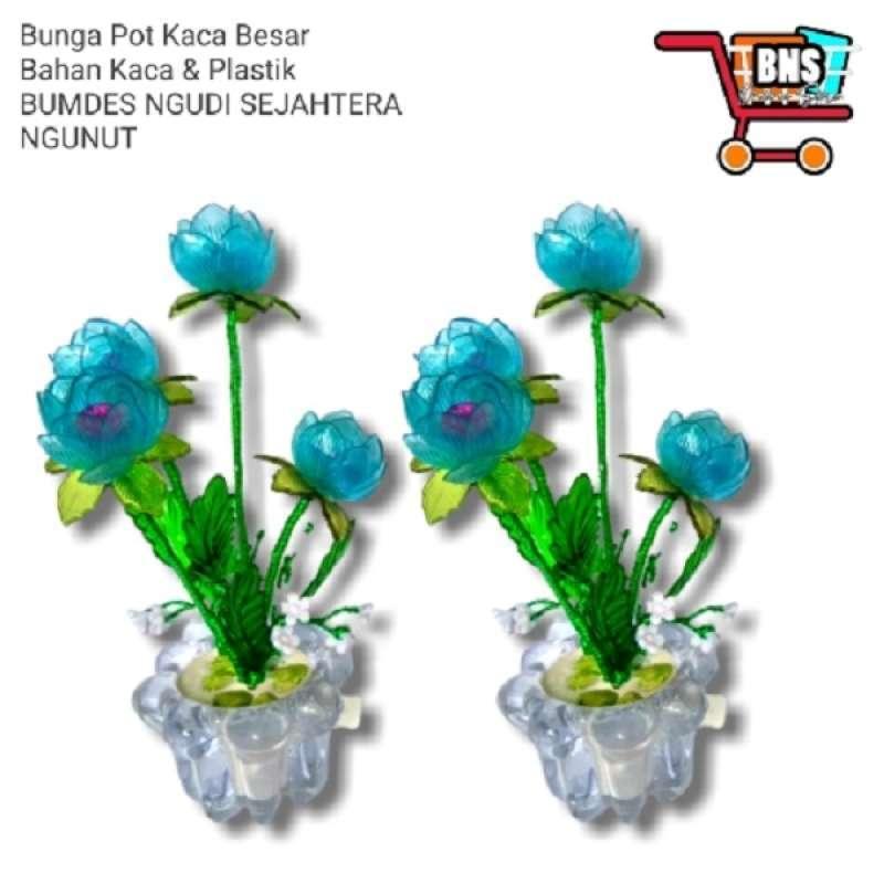 Jual Bunga Plastik Pot Kaca Besar Online April 2021 Blibli