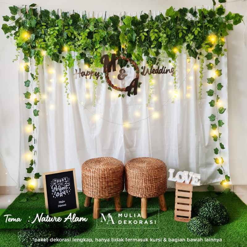 Jual Dekorasi Backdrop Lamaran Nikahan Aqiqah Background Bekdrop Paket  Mulia U Terbaru Juni 2021 | Blibli