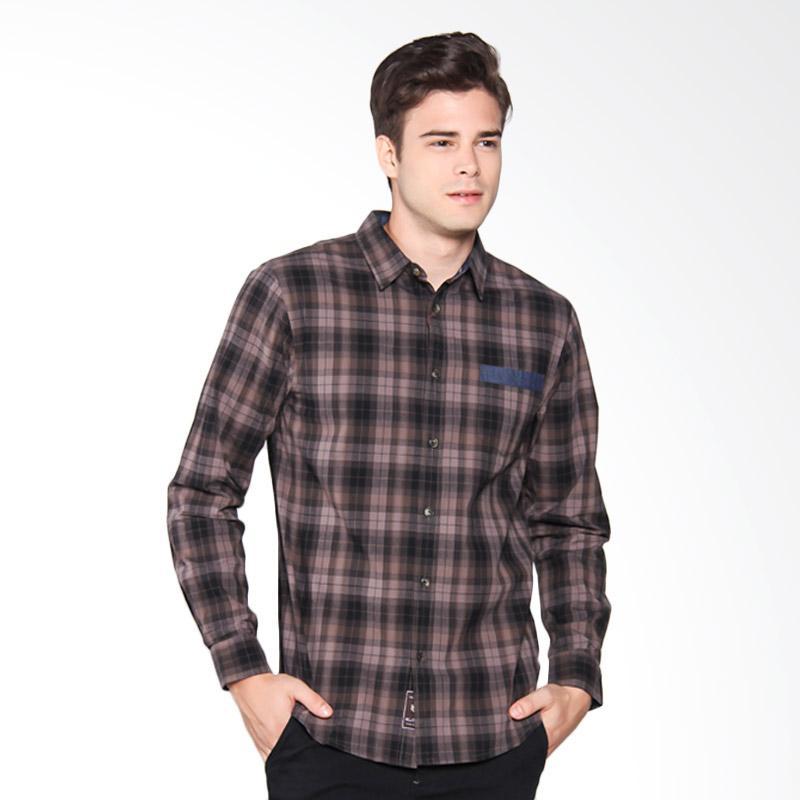 Famo Shirt Kemeja Pria - Brown 504061711