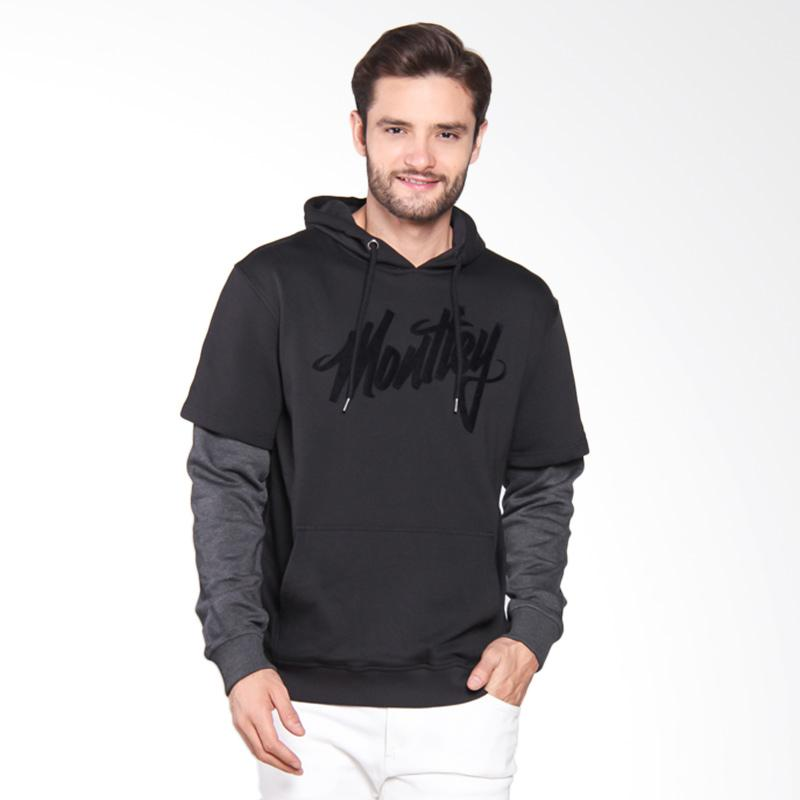 Moutley Sweater Pria - Black 306061715