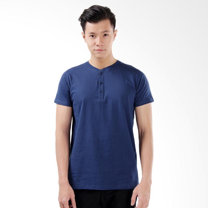 Word.o New Basic T-shirt Lengan Pendek - Royal Blue