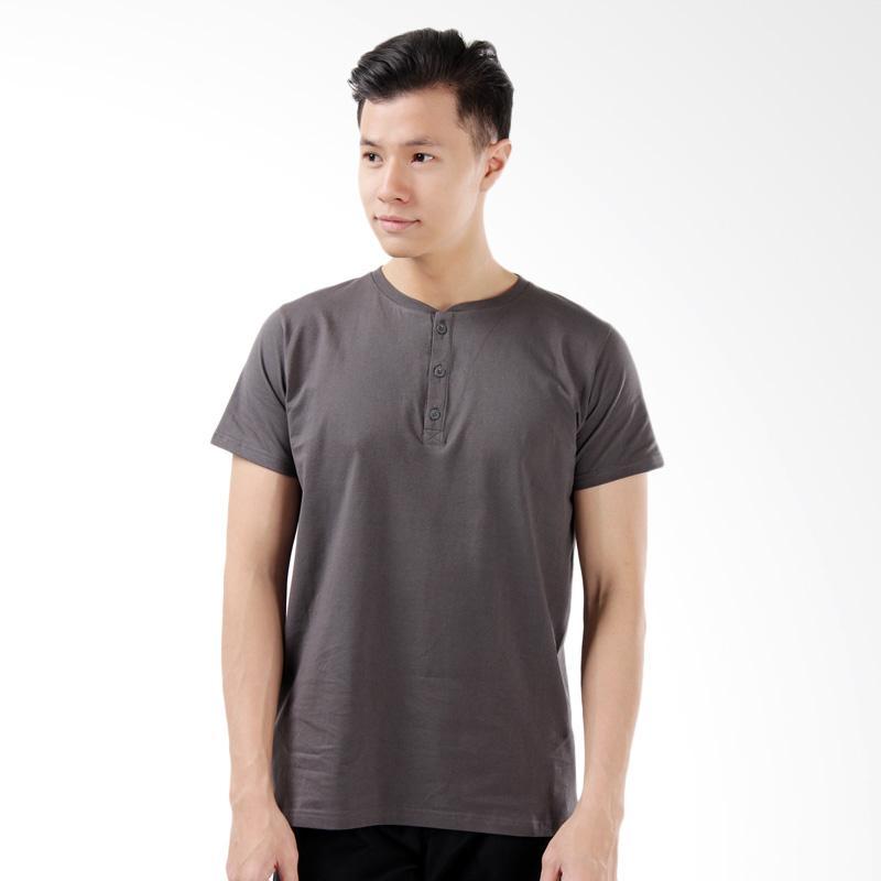 Word.o New Basic T-shirt Lengan Pendek - Abu Tua