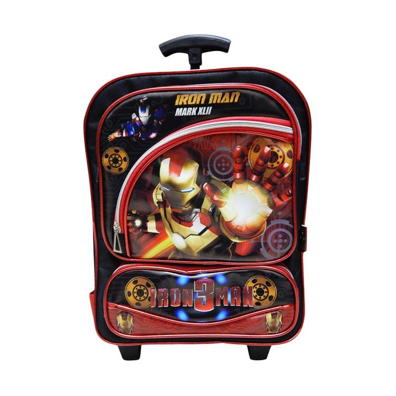 Wonderland Iron Man Tas Trolley Anak - Hitam