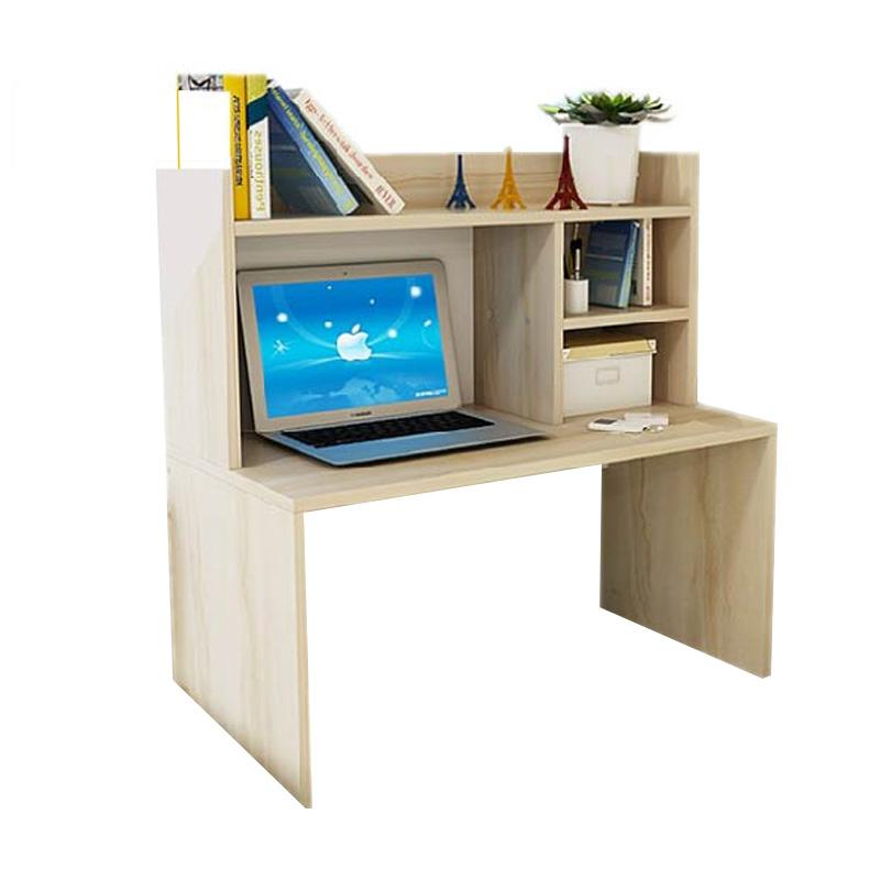 Best Furniture Mini Desk Lesehan Meja Laptop / Belajar dan Rak Sebaguna - Kayu Oak