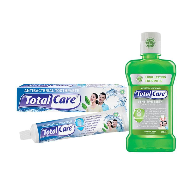Total Care Paket Tooth Paste and Mouthwash Sensitive Teeth