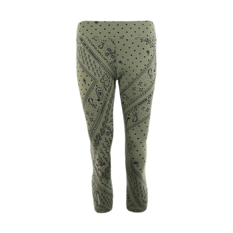 Reebok Y Print Capri Celana Olahraga Wanita BJ9766