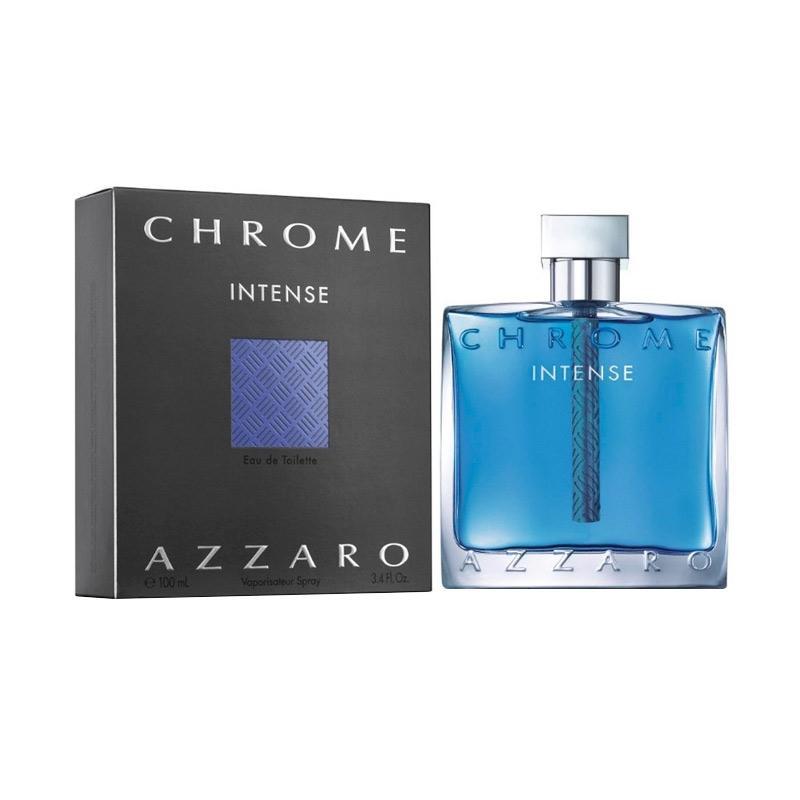 Azzaro Chrome Intense Eau De Toilette Parfum Pria [100 mL]