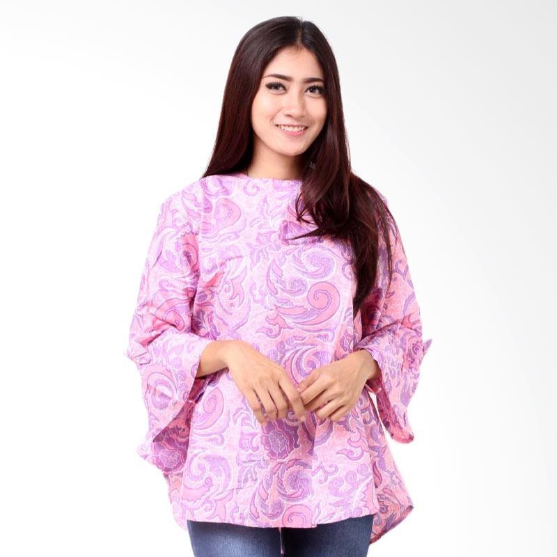 harga Batik Distro BA8399 Blus Wanita A Line Pendek - Ungu Blibli.com