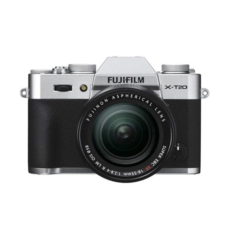 Fujifilm X-T20 18-55mm F2.8-4 R LM OIS Kamera Mirrorless - Silver