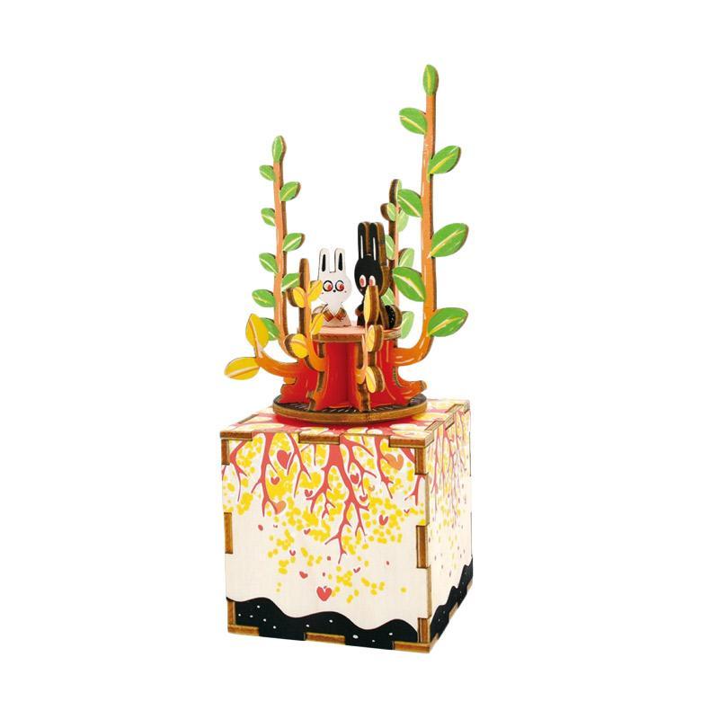 ROBOTIME AM302 DIY Wooden Music Box Series Spring Puzzle - Multicolor