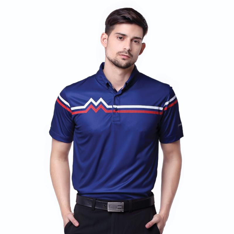 Svingolf M & M Polo Pakaian Golf Pria - Blue Marine