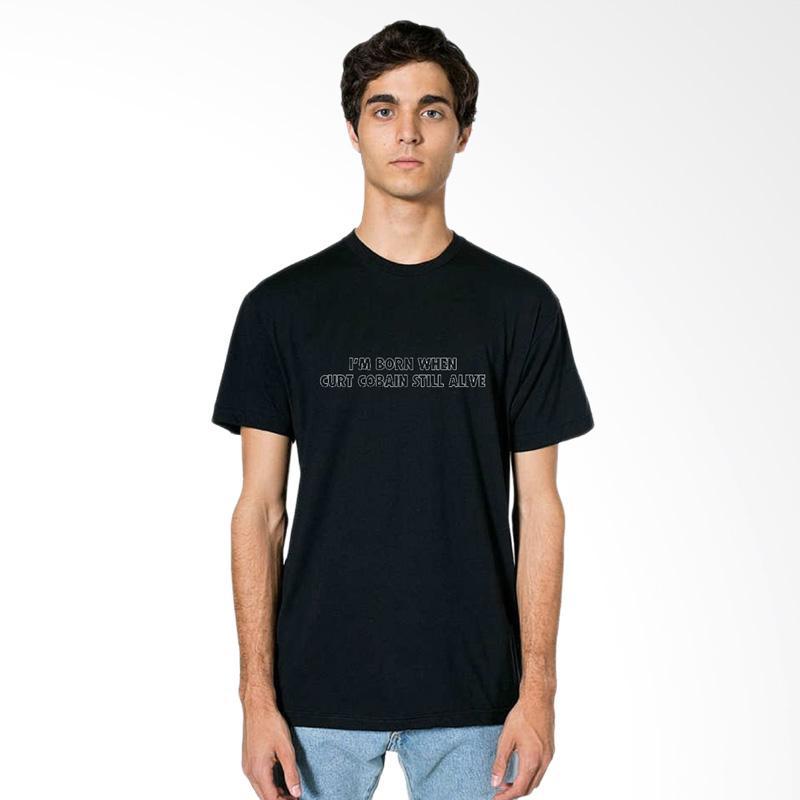 FRAW T-Shirt Kaos Pria - Black 27-17