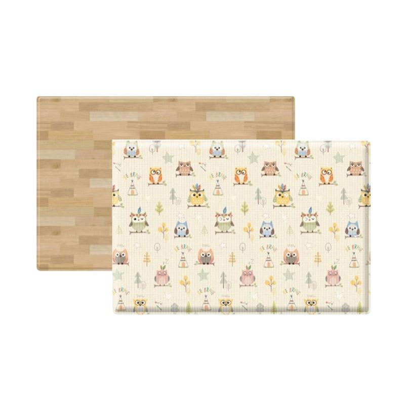 Coby Haus Little Owl Colour Wood Playmat [Size M/ 190 x 130 x 1.2 cm]