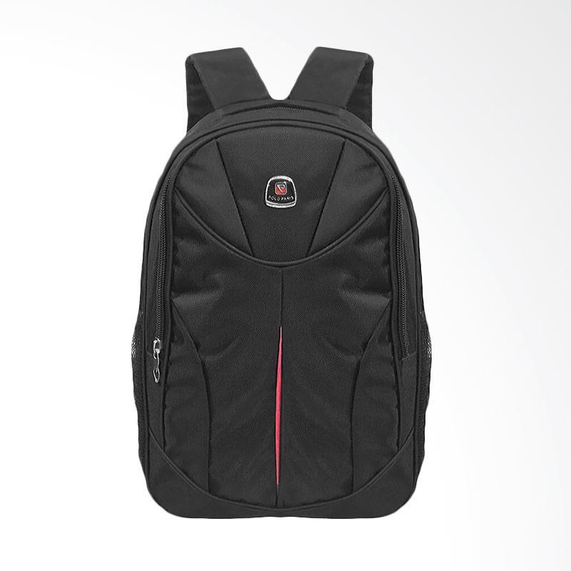 Polo Club Eiffel Laptop Backpack with Raincover Tas Pria - Hitam